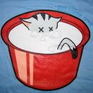 GET SOME REST Sleepy Kitty CISSE Cap Sleeve Disco Party Rave T Shirt Misses S Small Blue