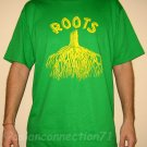 ROOTS New Rasta Irie REGGAE Cotton T-Shirt XL Green