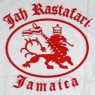 JAH RASTAFARI JAMAICA Roots Rasta Reggae Irie Dub Lion T-Shirt XL White