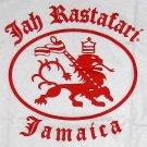 JAH RASTAFARI JAMAICA Roots Reggae Irie Rasta Lion T-Shirt L White