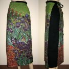 IRISES Vincent Van Gogh Freesize Long Cotton Wrap Art Skirt S-XL