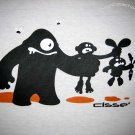 FOOD CHAIN Evolution CISSE Darwin Cotton T-Shirt Asian L White