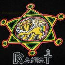 RASTA LION of JUDAH New Roots REGGAE T-Shirt S Black