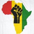 AFRICA POWER Roots Rasta REGGAE T-Shirt XL White