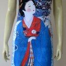 WINTER SNOW GEISHA New Japan UKIYOE Art Print Dress Misses Size S 4-6