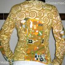Gustav Klimt EMBRACE Long Sleeve Fine Art Print T Shirt Misses L Large