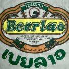 BEER LAO Cool Original Top Quality Cotton T-shirt XL Beige Khaki Tan