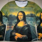 MONA LISA Leonardo Da Vinci LONG SLEEVE Fine Art Print T Shirt Misses L