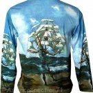 THE SHIP Salvador DALI Long Sleeve Art Print T Shirt Men's Size M Medium