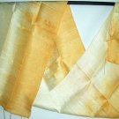 Thai YELLOW and GOLD New Hand Crafted Silk Fabric Scarf