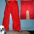 Thai FREESIZE Fisherman Yoga Pants New RED Cotton Drill