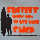 SURF STICK Priere Hawaii Surfing T-shirt L Large Blue