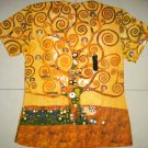 TREE of LIFE Gustav Klimt Cap Sleeve Art Print T Shirt Misses XL Extra Large