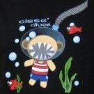 CISSE DIVER Fun New Cotton T-shirt Asian M Black BNWT!