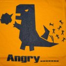 ANGRY Monster Anime Disco CISSE T-shirt Asian L Yellow