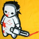 NORTH DRAGON Baby Jason Bloody Chainsaw Massacre T-Shirt M Medium Yellow