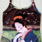 GEISHA with TEA Japanese Ukiyoe Art Print Shirt Singlet TANK TOP Misses XL Extra Large