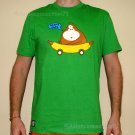 HAPPY TIME Banana Monkey CISSE Disco Party Rave T-shirt Slim Fit Asian XL Green
