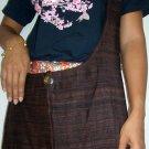 Thai Raw Silk Messenger Sling BUDDHA Bag Purse Dark Brown