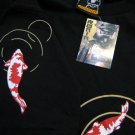 Japanese KOI Lucky Fish RONIN Japan Tokyo Yakuza T-Shirt XL Extra Large Black BNWT