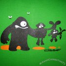 FOOD CHAIN Fun New CISSE T-Shirt Asian XXL Green BNWT!