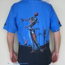 BURNING GIRAFFE Salvador Dali Art Print Short Sleeve T Shirt Men's M Medium