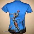 Salvador Dali BURNING GIRAFFE Cap Sleeve Fine Art Print T Shirt Misses XL Extra Large