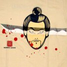 THE SAMURAI RONIN Japanese Yakuza Gangster T-Shirt XXL 2XL Cream