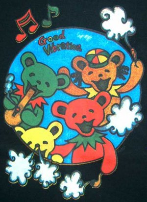 Rasta Bears GOOD VIBRATIONS New REGGAE T-shirt XL Black