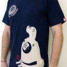 SAMURAI Profile RONIN Japan T-Shirt XL Dark BLUE Tokyo Yakuza Street Wear