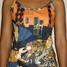SHARAKU Japan Ukiyoe Art Print Shirt Singlet TANK TOP Misses S Small