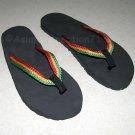 ROOTS RASTA REGGAE New Flip Flops Beach Sandals Size 8