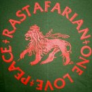 RASTAFARIAN PEACE ONE LOVE New REGGAE T-shirt XXL GREEN