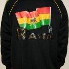 RASTA FLAG Lion of Judah New Roots Retro REGGAE Irie Dub Track Jacket Size S Small