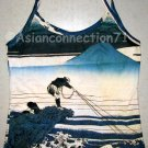 FISHERMAN Ukiyoe New Japan Art Print TANK TOP Shirt Misses M