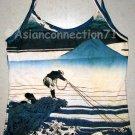 FISHERMAN Ukiyoe Japan Art Print TANK TOP Shirt Misses M Medium