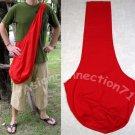 Thai Hippy Trippy Cotton BUDDHA BAG Sling Purse Messenger Tote RED