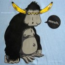 BANANA BRAINS meuh. CISSE Ape T-shirt Asian M Blue BNWT