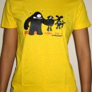 FOOD CHAIN Cap Sleeve CISSE Darwin Disco Party Rave T-Shirt Misses S Small Yellow