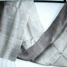 Thai Silver Grey and Brown New 100% Silk Fabric Scarf