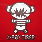 X-RAY Bear CISSE Disco Anime T-shirt Asian XL RED Party Rave
