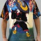 KABUKI Japanese Ukiyoe Art Print Short Sleeve PN T Shirt Men's L