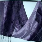 Thai Silk Fabric Scarf New Half and Half Mixed PURPLES 10-11