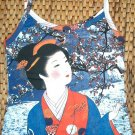 WINTER SNOW GEISHA New Japanese Ukiyoe Art Print TANK TOP L