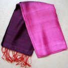 Thai Silk Fabric Scarf Hand Craft Multi Color PURPLE PINK ORANGE 6-14 Thailand