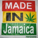 MADE IN JAMAICA Marijuana Roots Reggae T-shirt L White