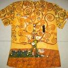 TREE of LIFE Gustav Klimt Cap Sleeve Fine Art Print T Shirt S Small