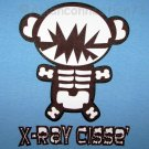 X-RAY Bear CISSE Disco Anime T-shirt Asian XL Blue Party Rave