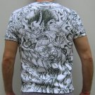 RAIJIN Japanese THUNDER GOD Charcoal Irezumi Tattoo T-Shirt Short Sleeve Size L