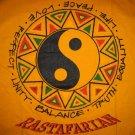 RASTAFARIAN Ying Yang Roots Rasta REGGAE T-shirt L Large Yellow